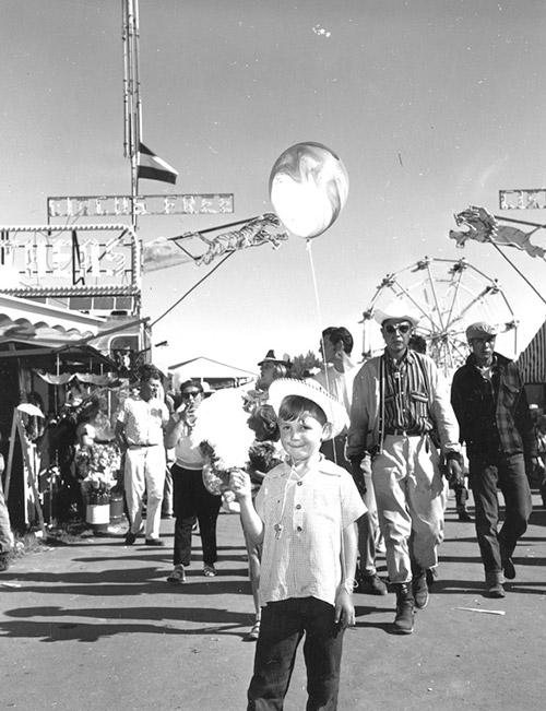 Lethbridge and District Exhibition Midway. July 1960. Alberta, Canada.