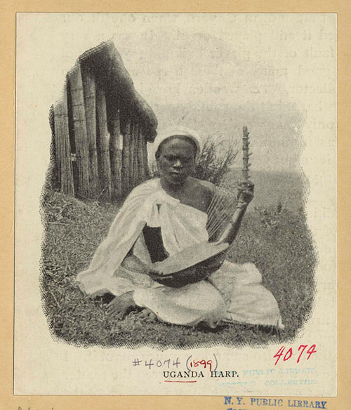 Uganda Harp. 1889. NYPL.