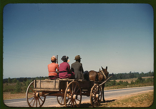 Going to town on Saturday afternoon, Greene Co., Ga. (LOC). 1941.